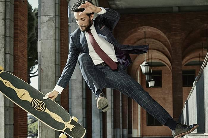 视频:有腔调的绅士滑板 街头与经典结合