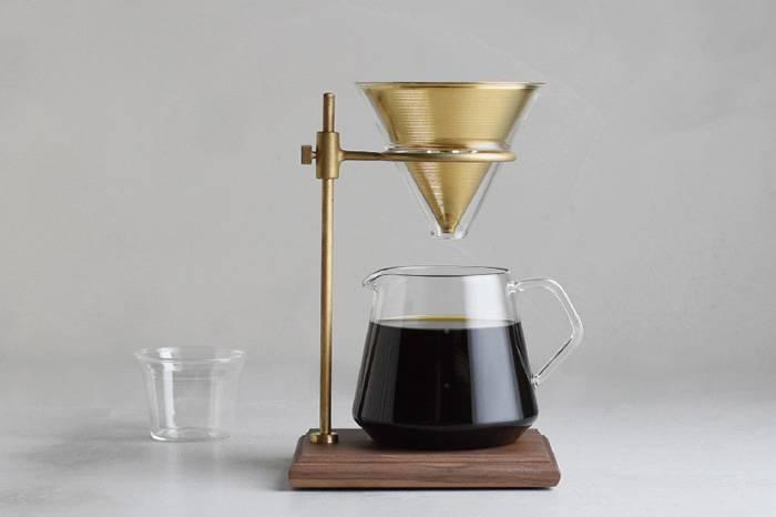 让生活慢一点 日本KINTO推出经典黄铜手冲咖啡四件组