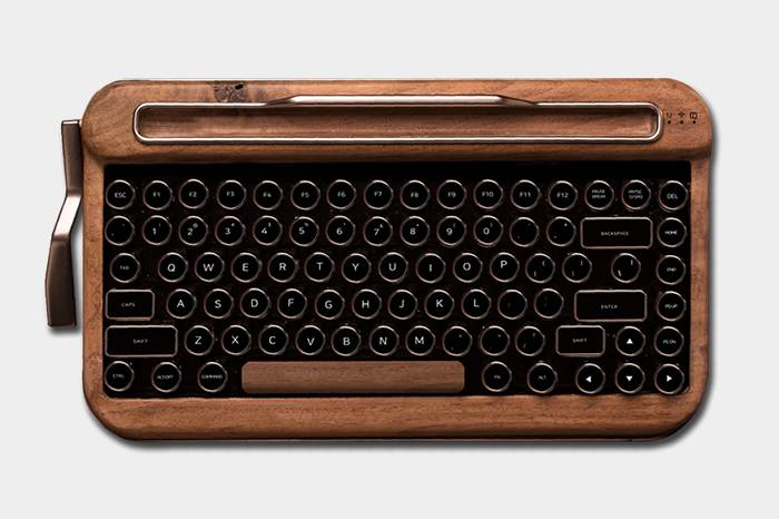 这款复古蓝牙机械键盘 让你重回打字机时代