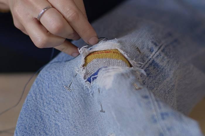 Levi's教你如何修复破损的牛仔裤