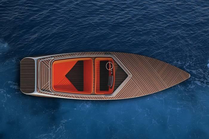 Zebra:巴黎工业设计师打造 极简复古风格木质电动游艇