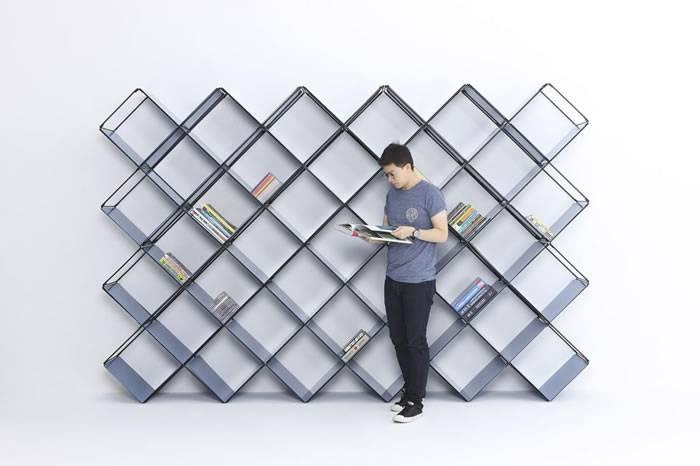 这款高颜值DIY组合书架 再也不担心书籍和黑胶唱片的收纳问题了