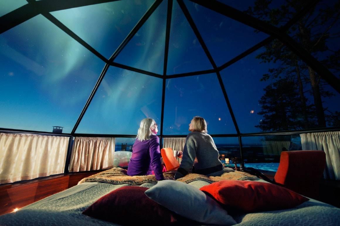 芬兰Levin Iglut高品质极光酒店,让你畅游在宇宙之中