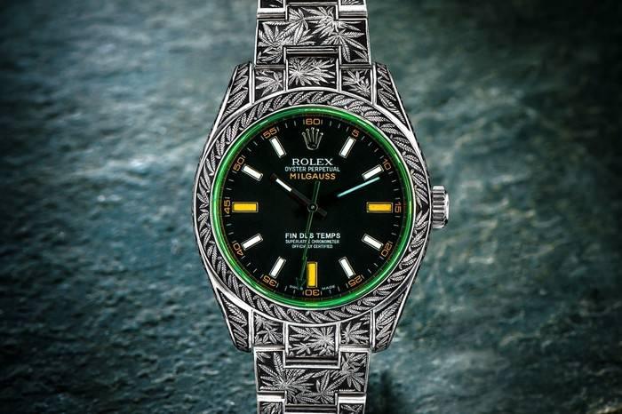 西雅图珠宝工作室以大麻为灵感,打造Rolex Milgauss系列腕表