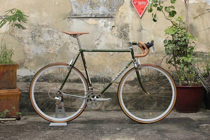 新加坡车手将1974年古董自行车,改造为完美艺术品