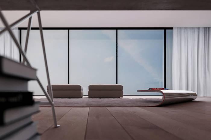 在生活中发现不可能,意大利设计师将地毯改造为咖啡桌