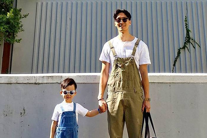 INS穿搭博主:想跟着这对时髦父子 365天造型不重样
