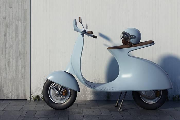 Vespa发布全新极简电动机车,重新上演现代街头版的《罗马假日》