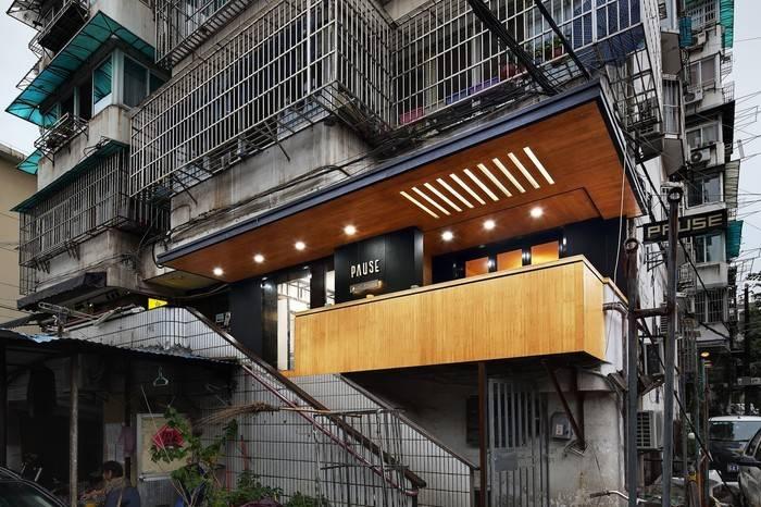 南京Pause Cafe咖啡店,高反差对比设计让传统遇见未来