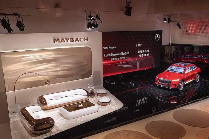 奔驰迈巴赫至臻奢华概念车全球首发,他们还推出了一套家居系列
