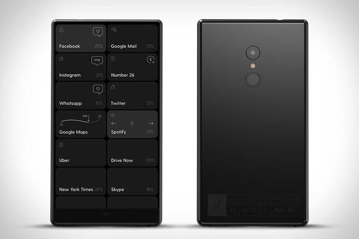 这款智能手机只能显示黑白界面,却将极简做到了极致