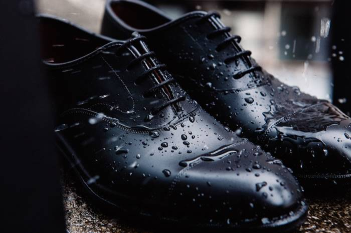 西装型男下雨天也可以穿的正装皮鞋