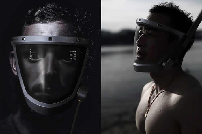 D-Mask智能潜水面罩 带来全新的潜水体验