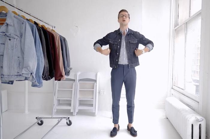 男士衣橱必备丹宁夹克,5种不同穿搭风格品位教学