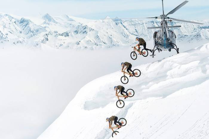 不要命系列之单车大神Fabio Wibmer,骑行速降挑战雪山之巅