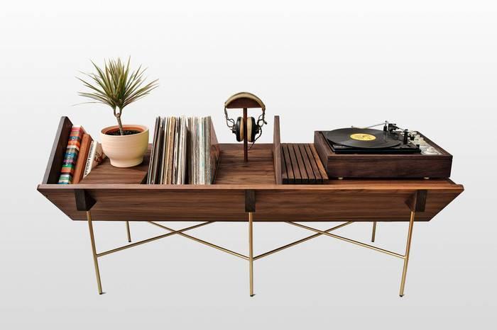 Sitskie多功能黑胶唱机桌,让你的所有爱好完美呈现