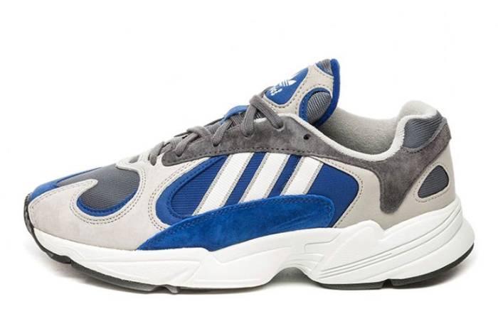 adidas originals平民版老爹鞋 白蓝灰色系复古十足