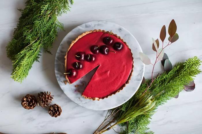 甜甜的圣诞樱桃挞,亲手做的礼物最有心意