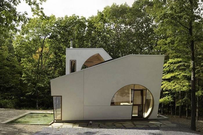 纽约森林里的玻璃木屋,奇妙的几何艺术