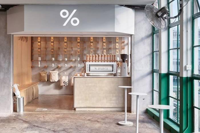 咖啡迷必访的% Arabica香港天星码头店,仅17㎡的精致极简设计