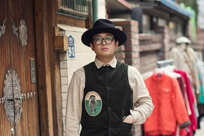 韩国街拍 | 复古服饰店主JINJIN