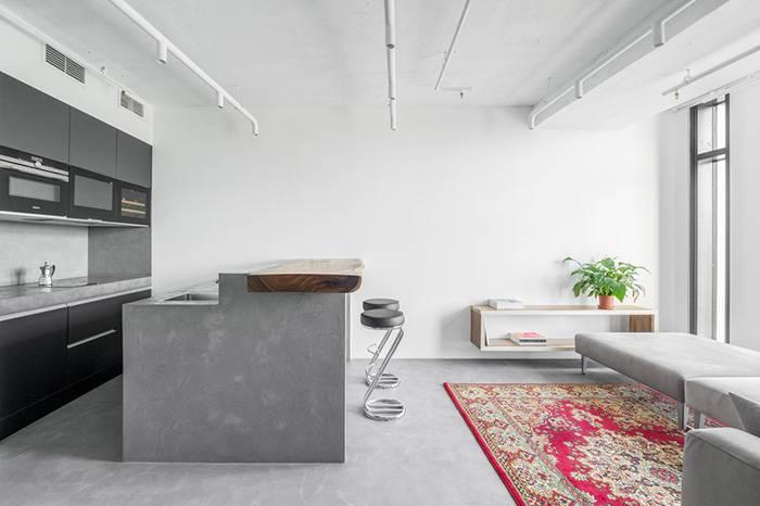 自己设计的63㎡工业风小居,用艺术色彩点缀了黑白灰的冷峻