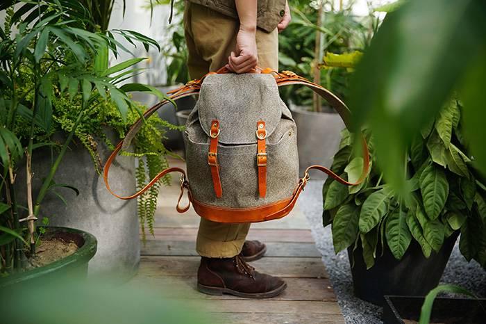 国内手工包袋品牌H&K发布小号胡椒盐背包更适合日常通勤