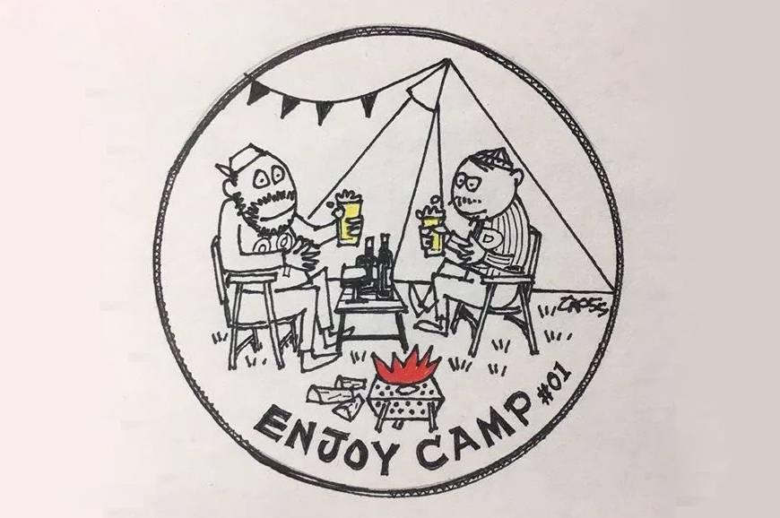 这位日本户外插画师笔下的露营一家人,有趣好玩又时髦
