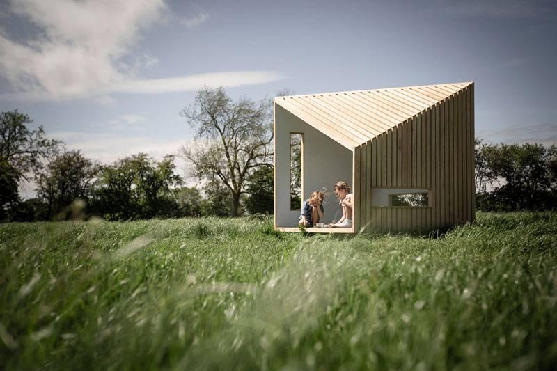 这个专为小朋友打造的Outdoor Playhouse,灵感来自北欧小木屋