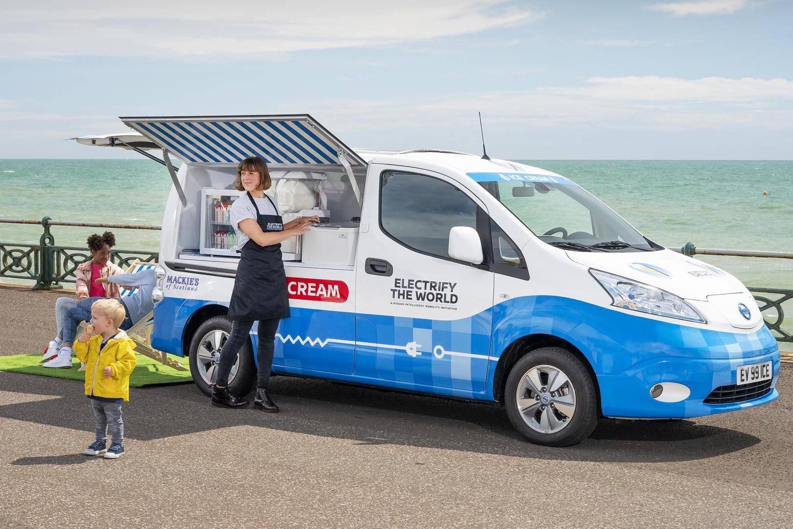 开启一段消除碳依赖的清凉之旅,NISSAN推出零排放电动冰淇淋车