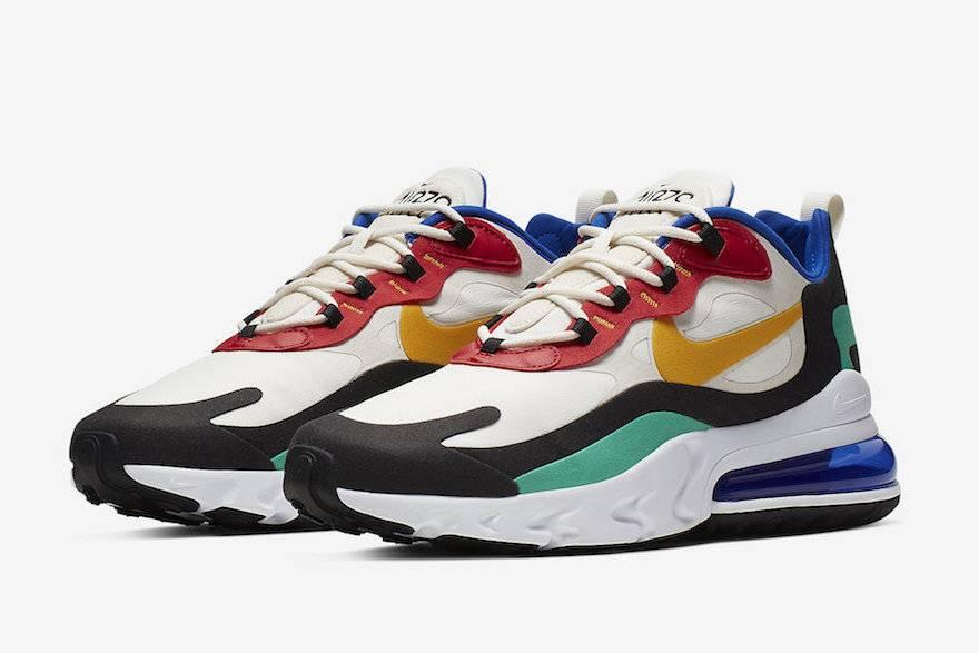 把经典的包豪斯穿在脚上,Nike发布Air Max 270 React Bauhaus
