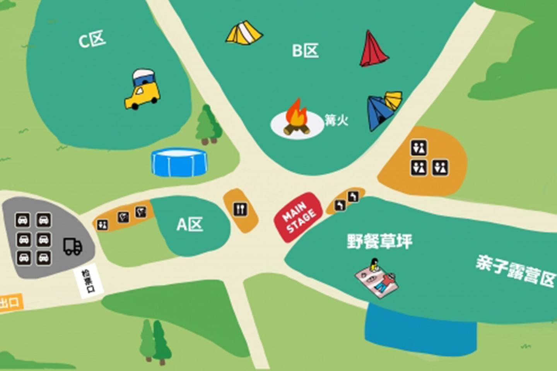 TERRI「天空下的周末」露营活动场地图及注意事项公布