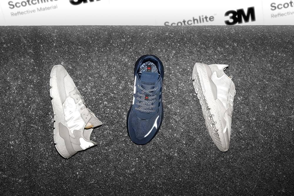 夜跑者必备,adidas Originals带来一双超闪亮的新跑鞋