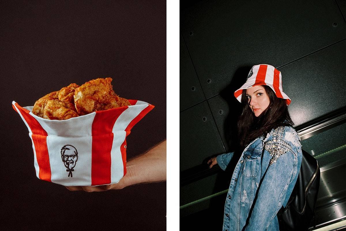 戴它?还是用来装满吮指原味鸡?KFC Russia推出一顶神奇的Bucket Hat