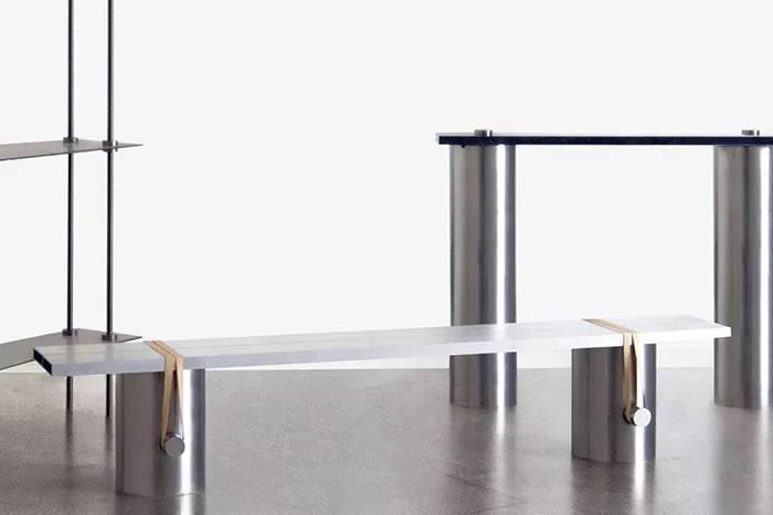 极简设计的金属家具,精致好看且前卫时髦