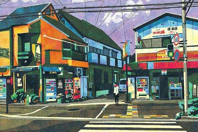 日本普通街道上的日常时刻,藏着平凡世俗之美