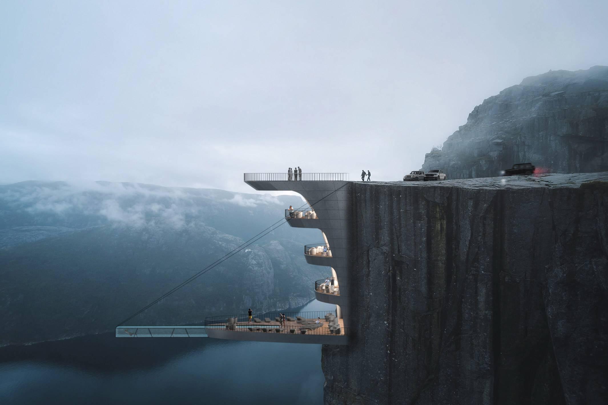 挪威Cliff Concept Boutique Hotel:可能是全球最刺激的精品酒店