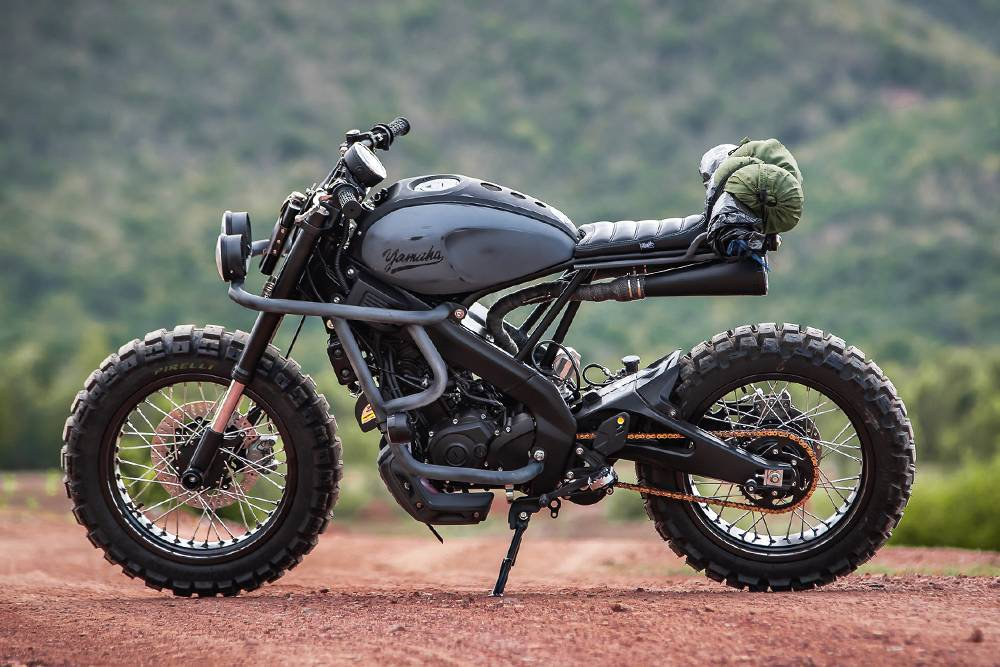 复古的探险主题越野摩托,来看看大变身后的Yamaha XSR155