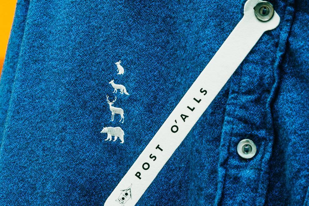动物刺绣是亮点,POST O'ALLS x MOUNTAIN RESEARCH联名衬衫系列