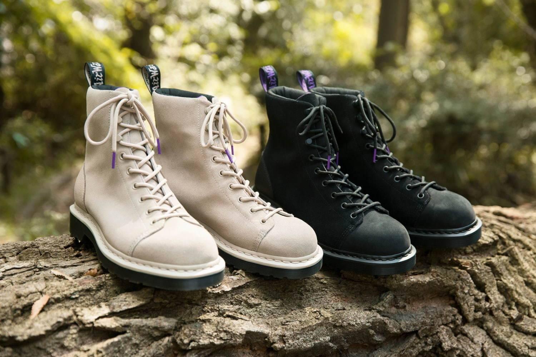 以现代设计重塑老式靴型,TNF紫标 x Dr.Martens释放联名9孔靴