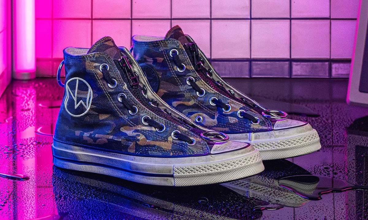 满载前卫细节,UNDERCOVER x Converse全迷彩联名鞋款