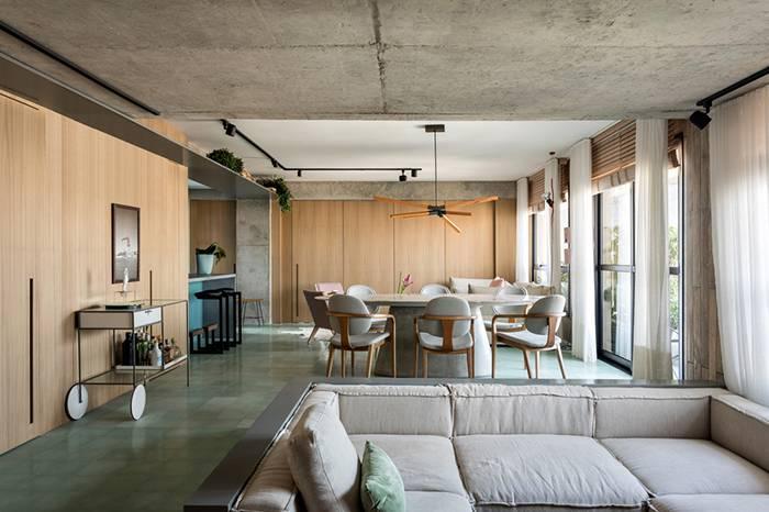 130㎡ 公寓翻新 | 将复古风格与现代家居创新结合
