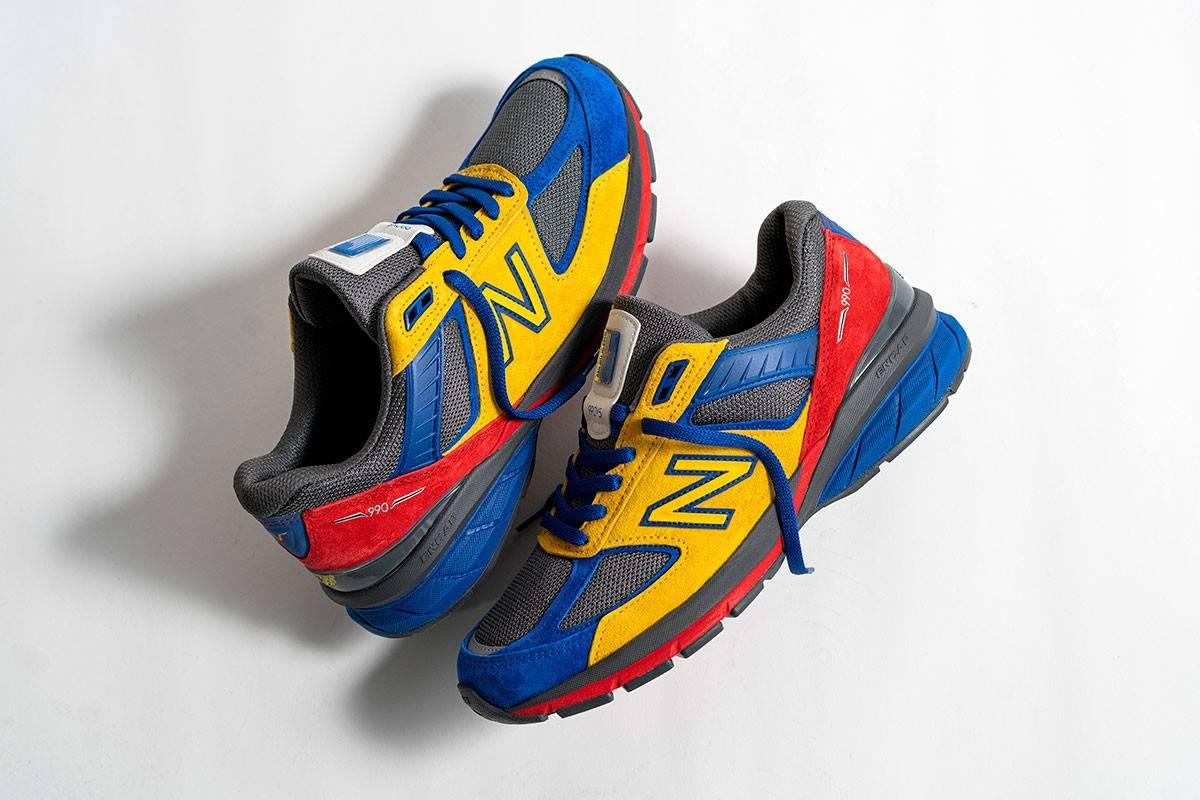 瞩目红黄蓝,Shoe City x EAT x New New Balance三方联乘990v5