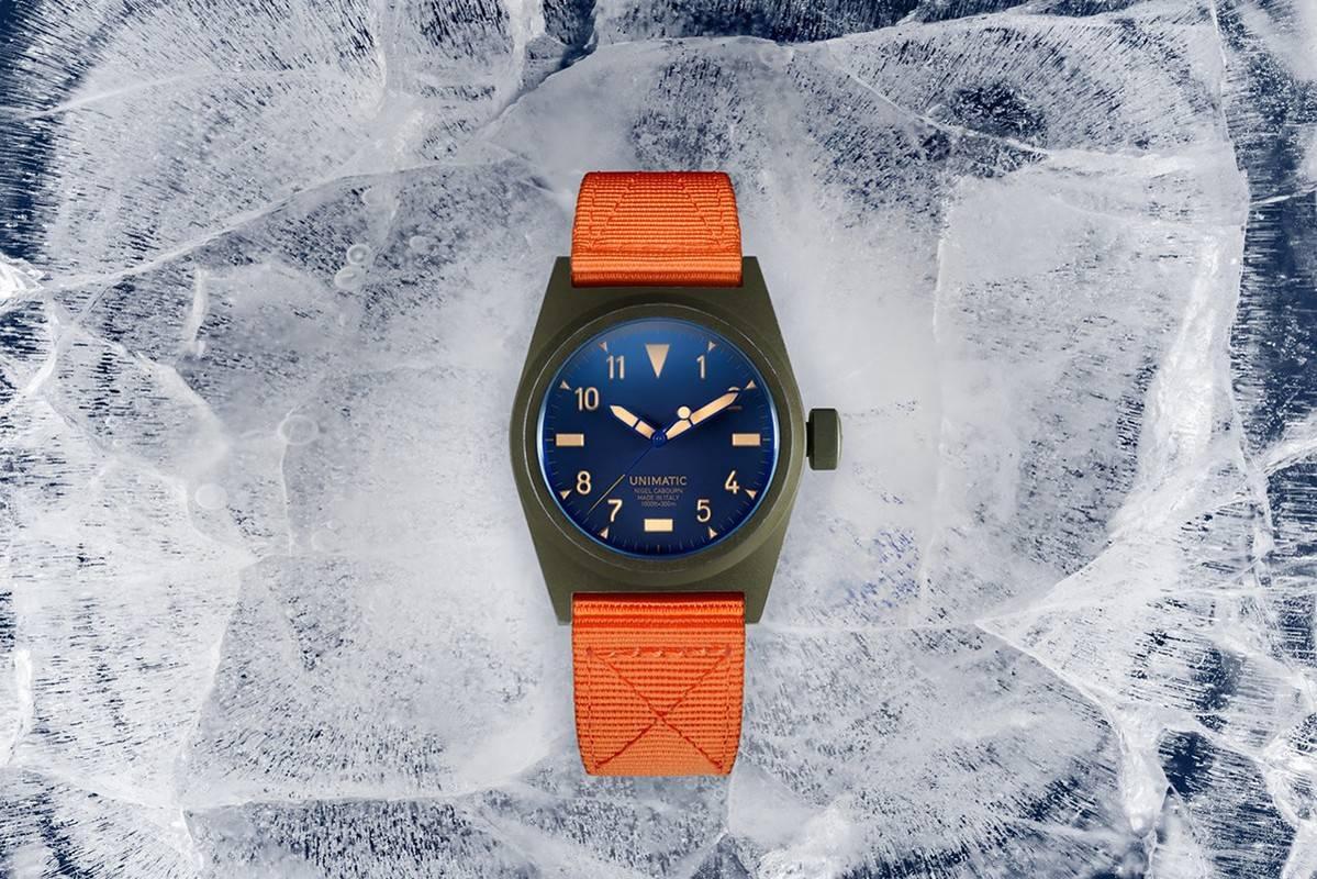 融合复古军风与探险精神,Nigel Cabourn x Unimatic限量腕表