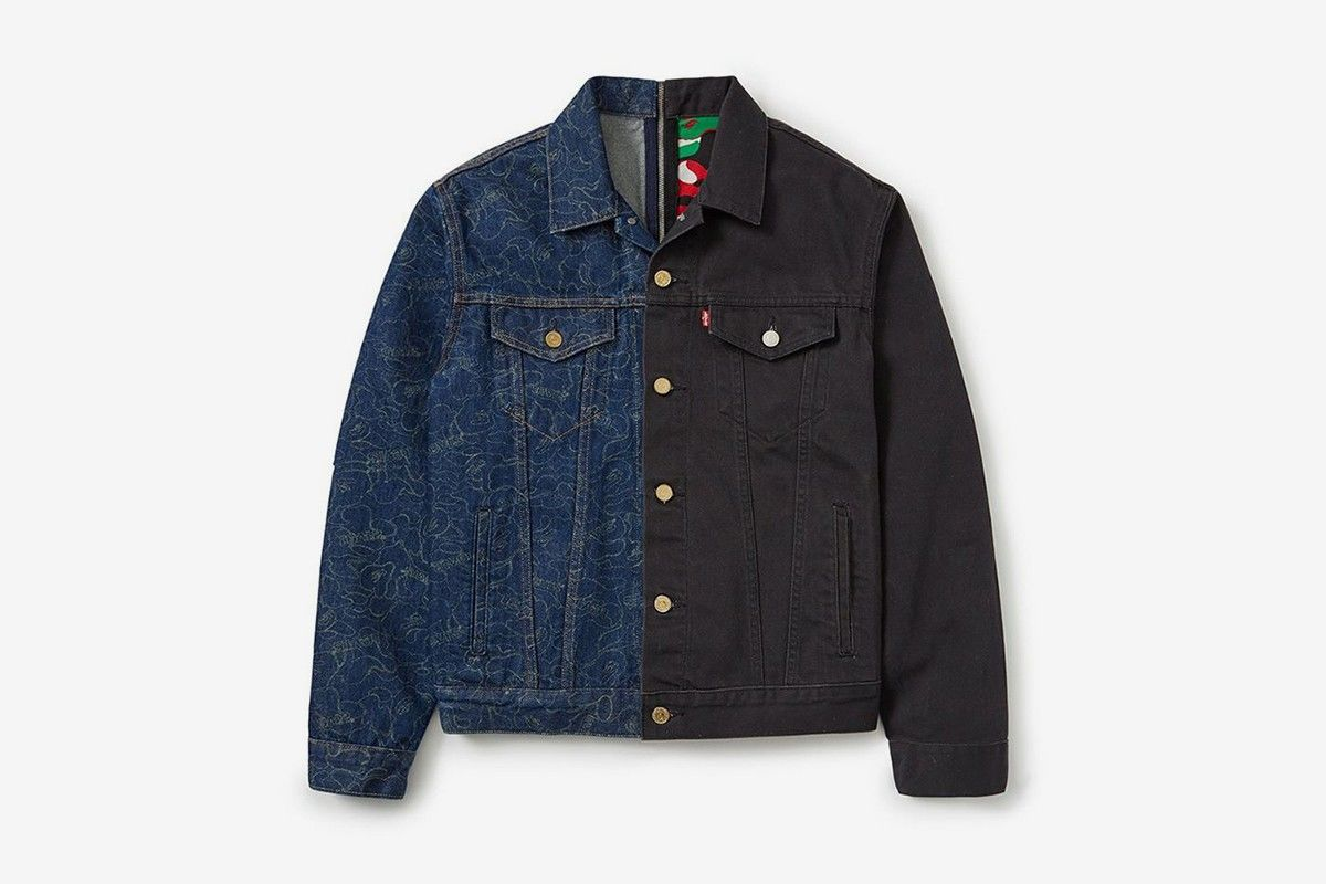 """买两件得四件"",BAPE x Levi's推出合作款Split Trucker Jackets"