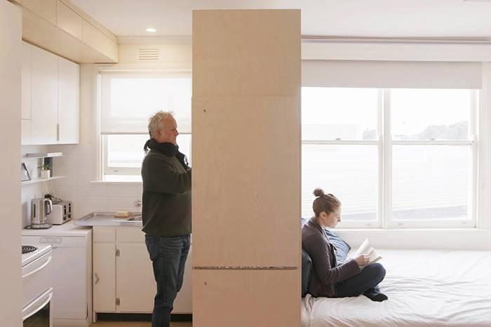小房改造  商店楼上的四口之家如何制造私密感