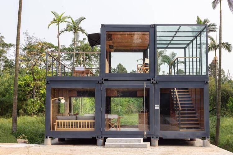 温馨而简约的工业风格,用集装箱构建的别致住宅