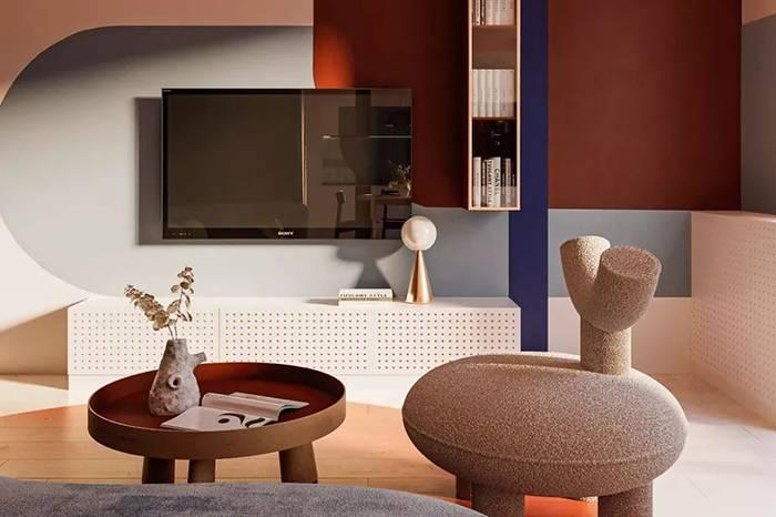70㎡ 现代公寓,舒服的色彩运用既简约又高端