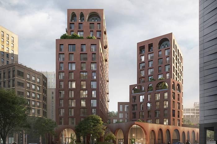伦敦又见新公寓楼 复古红砖外墙的六边形建筑