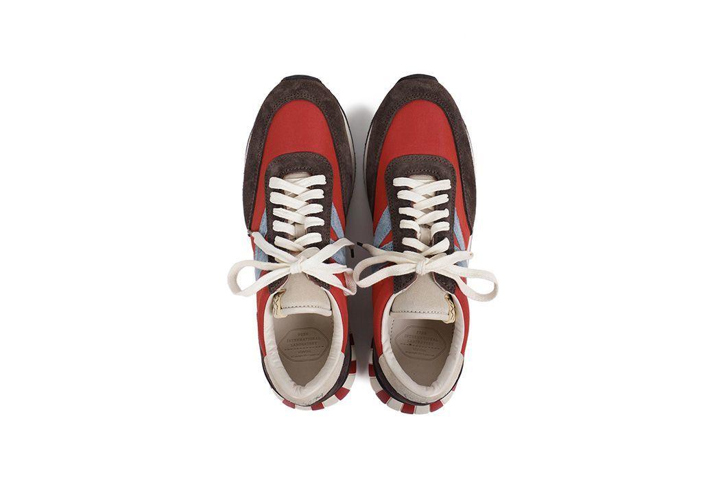 红色竖状条纹增加辨识度 visvim 2020春夏全新复古跑鞋
